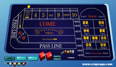 Free Online Casino Craps Game, you can play without spending one cent.